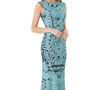 JS Collections soutache midi dress in turquise